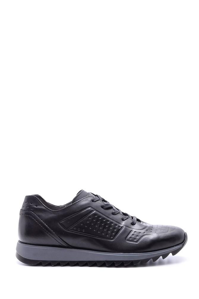 Siyah Erkek Deri Sneaker 5638088991