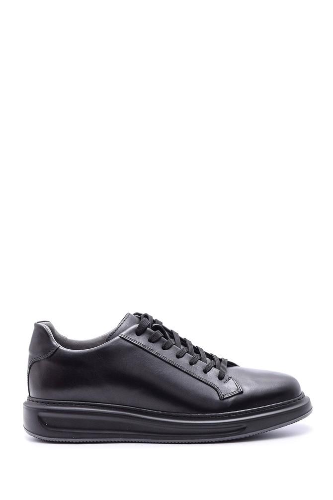 Siyah Erkek Deri Sneaker 5638089223