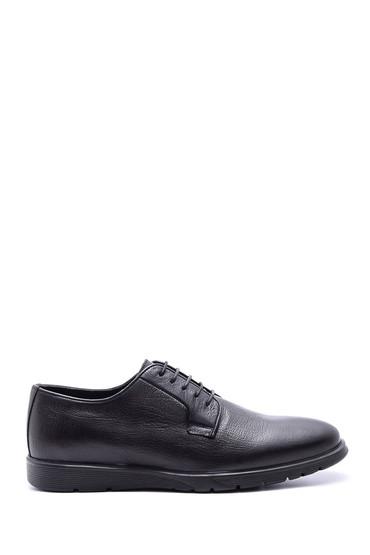 Siyah Erkek Bağcıklı Deri Ayakkabı 5638089648