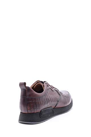 Erkek Kroko Desenli Sneaker