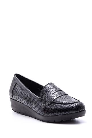 Kadın Yılan Derisi Desenli Ayakkabı