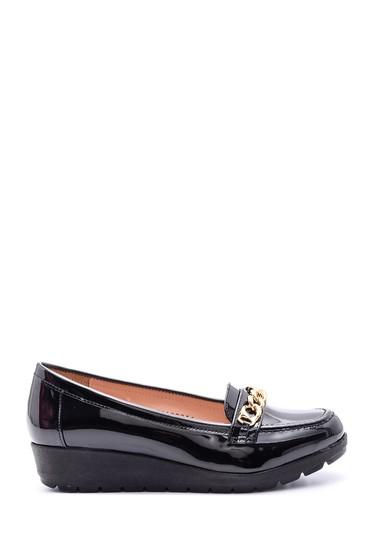 5638082829 Kadın Tokalı Rugan Ayakkabı