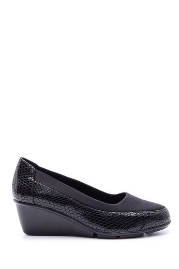5638082850 Kadın Kroko Desenli Dolgu Topuklu Ayakkabı