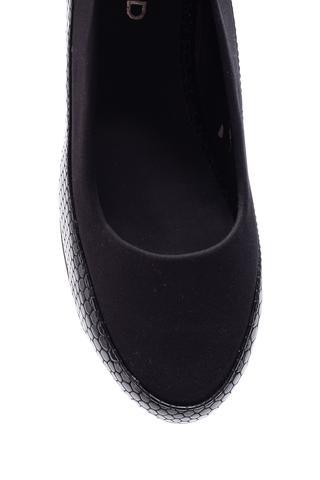 Kadın Kroko Desenli Dolgu Topuklu Ayakkabı