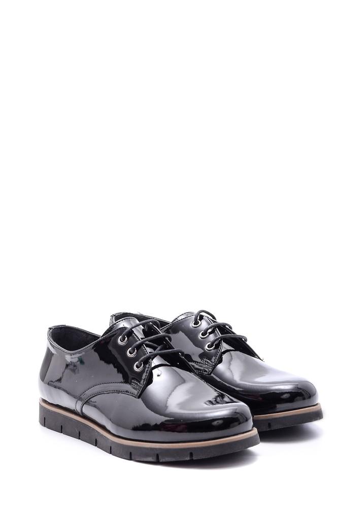 5638093675 Kadın Bağcıklı Rugan Ayakkabı