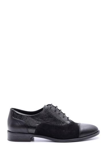 Siyah Kadın Kroko Detaylı Ayakkabı 5638092703