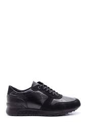 5638095742 Erkek Süet Detaylı Deri Sneaker