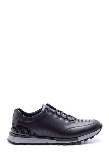 Siyah Erkek Deri Sneaker 5638081029