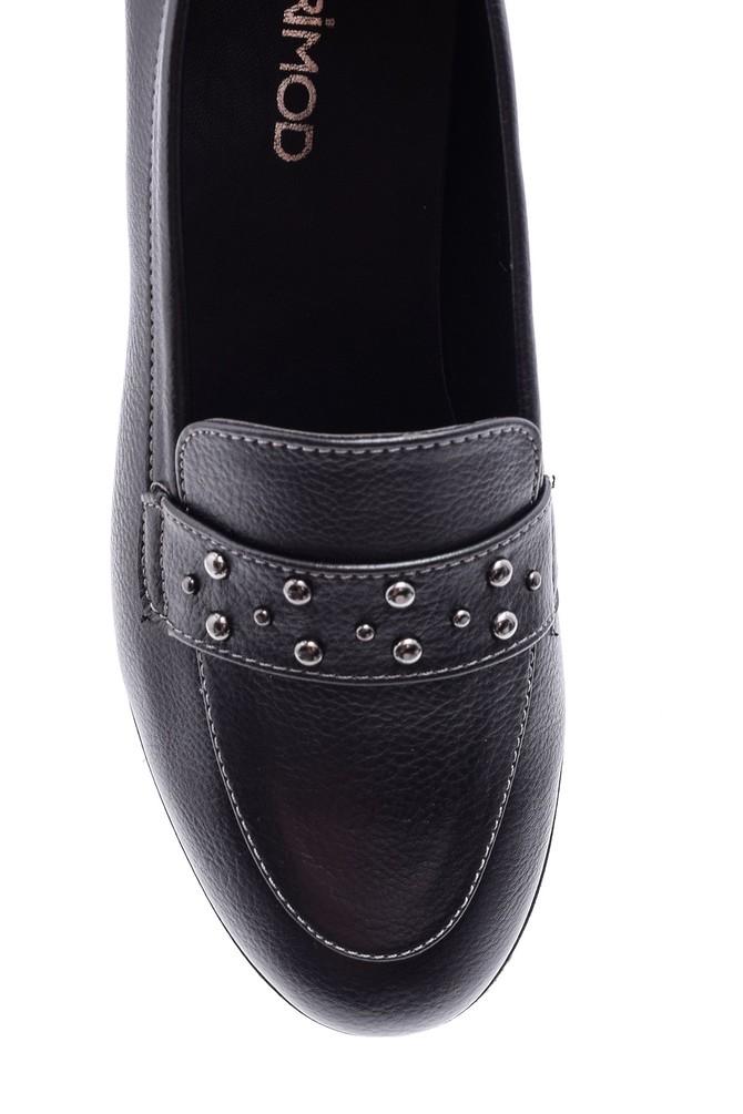 5638082016 Kadın Zımba Detaylı Ayakkabı