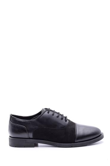 Siyah Kadın Süet Detaylı Ayakkabı 5638082880