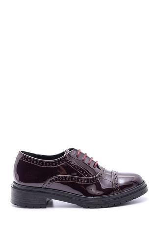 Kadın Bağcıklı Klasik Rugan Ayakkabı