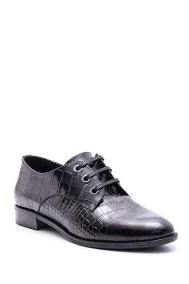 Siyah Kadın Kroko Desenli Ayakkabı 5638092669
