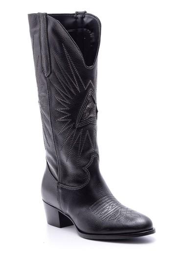 Siyah Kadın Deri Çizme 5638078349