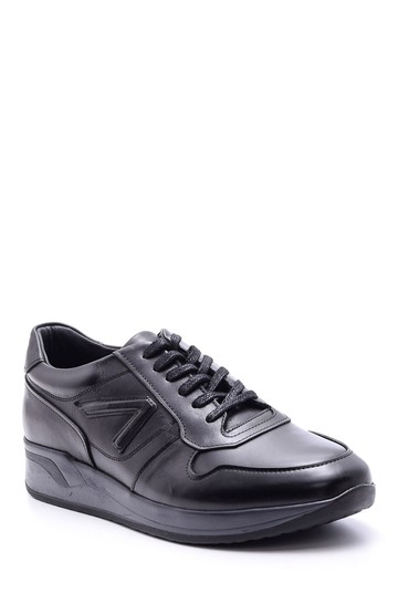Siyah Erkek Deri Sneaker 5638083418