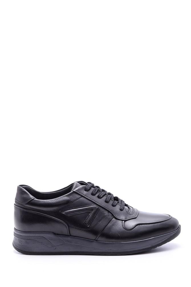 Siyah Erkek Deri Sneaker 5638083436