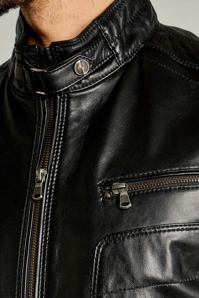 5638087452 New Hugo Erkek Deri Ceket
