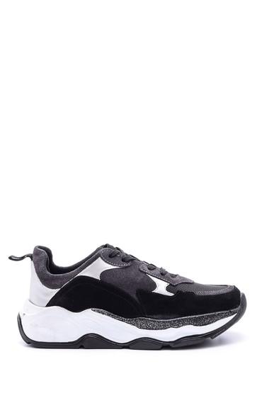 5638103390 Kadın Süet Detaylı Sneaker