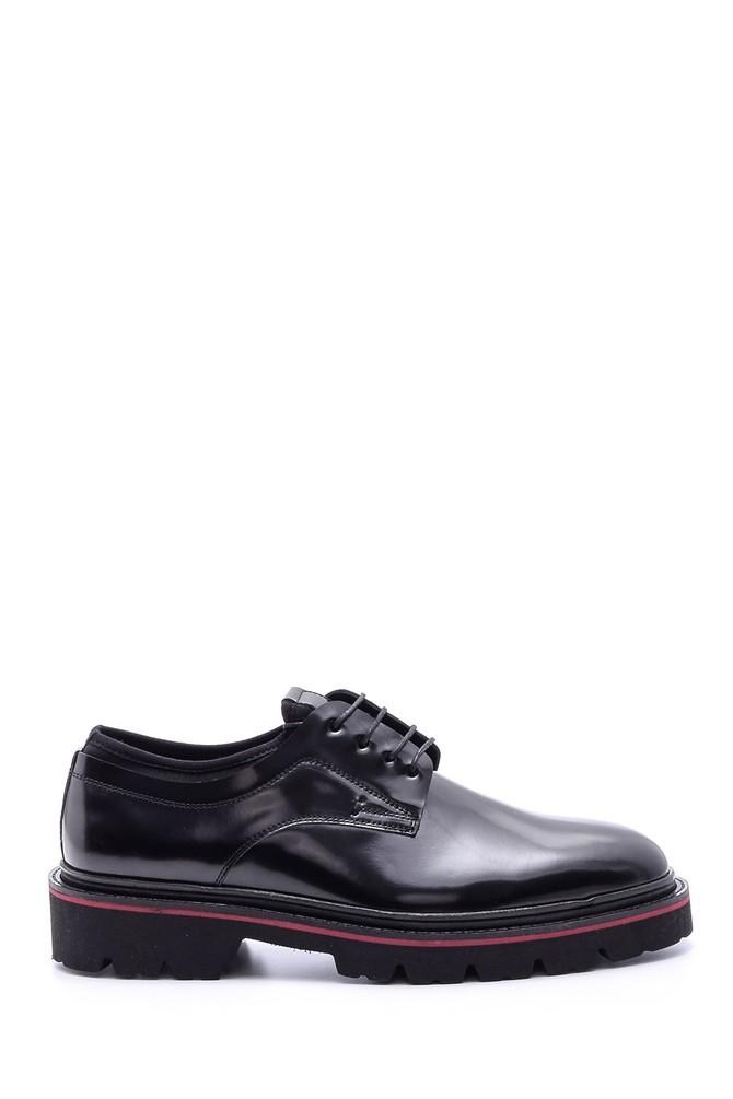 Siyah Erkek Rugan Deri Ayakkabı 5638094245