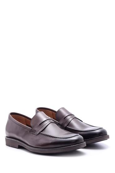 Kahverengi Erkek Deri Ayakkabı 5638094320