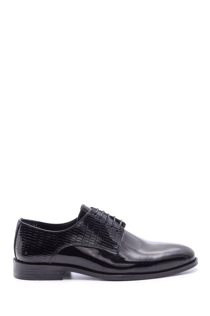 Siyah Erkek Kroko Detaylı Klasik Ayakkabı 5638094540