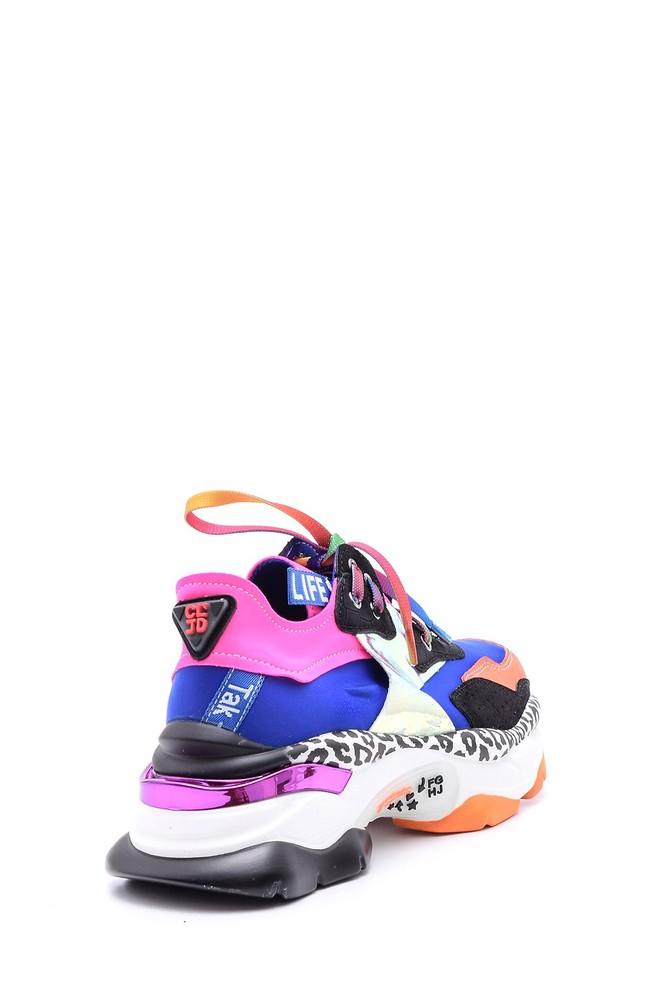 5638094833 Kadın Renkli Yüksek Tabanlı Sneaker