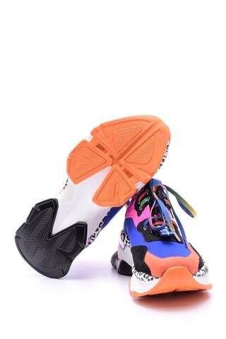 Kadın Renkli Yüksek Tabanlı Sneaker