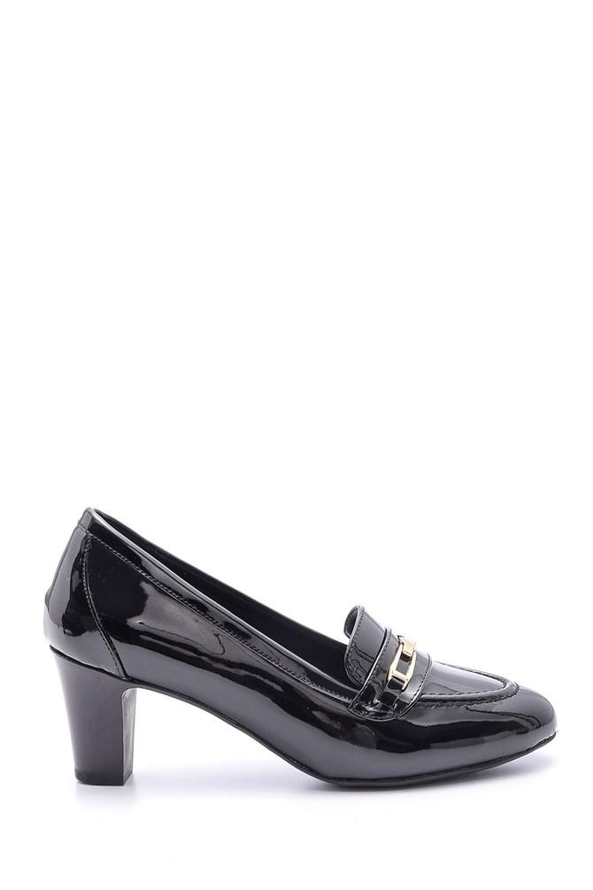 Siyah Kadın Rugan Topuklu Ayakkabı 5638082998
