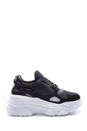 Siyah Kadın Yüksek Tabanlı Sneaker 5638106875