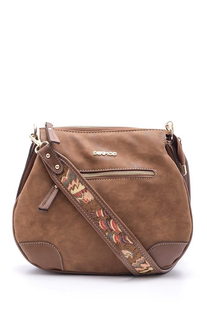 Kahverengi Kadın Sap Detaylı Çanta 5638110591