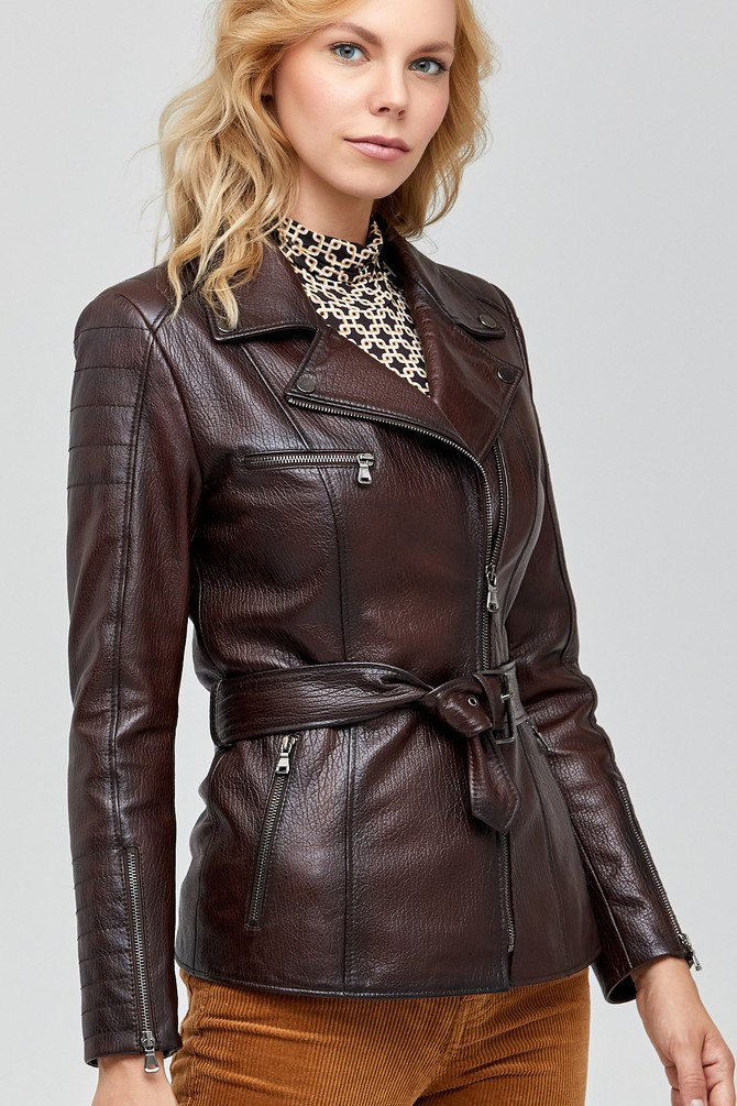 Kahverengi Mayfair Kadın Deri Ceket 5638100889