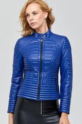 5638106133 Newyork Kadın Deri Ceket