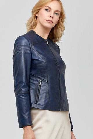 Reneta Kadın Deri Ceket