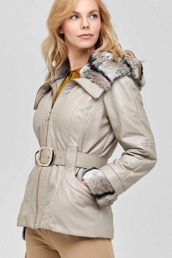 Beyaz Monterosa Kadın Deri Ceket 5638115066