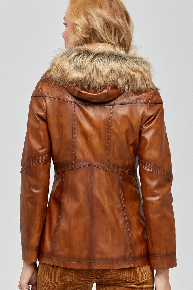 5637972735 Teresa Kadın Deri Ceket