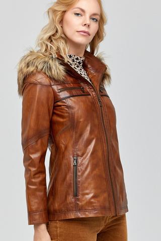Teresa Kadın Deri Ceket