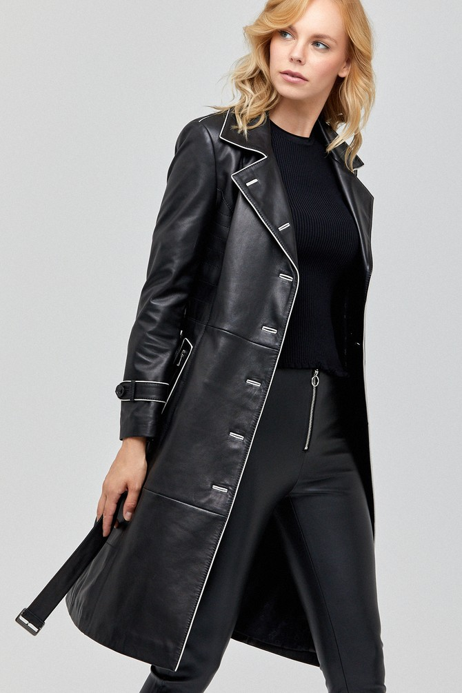 Siyah Anastasia Kadın Deri Ceket 5638100873