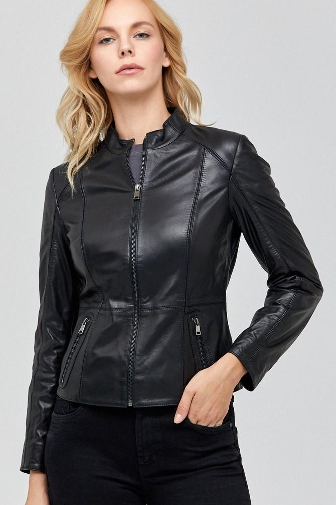 Siyah Riva Kadın Deri Ceket 5637902110