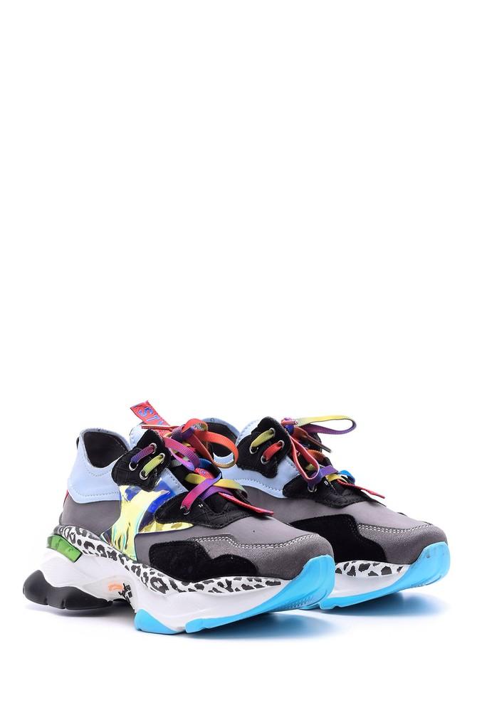 5638095786 Kadın Renkli Yüksek Tabanlı Sneaker