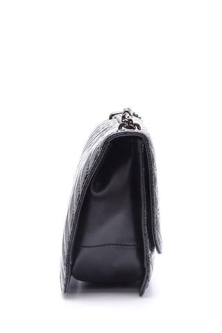Kadın Zımba Detaylı Rugan Çanta