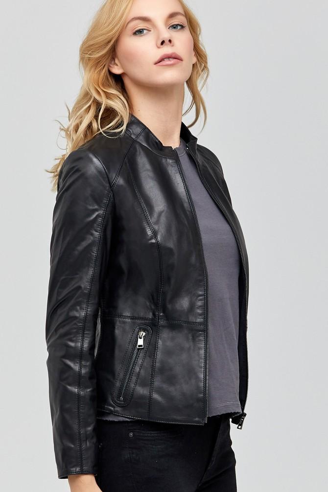 Siyah Riva Kadın Deri Ceket 5637902109