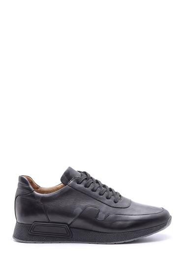 Siyah Erkek Deri Sneaker 5638089013