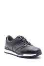 5638089304 Erkek Kroko Detaylı Deri Sneaker