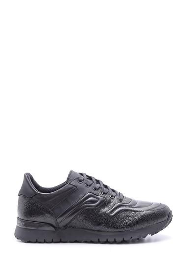 Siyah Erkek Deri Sneaker 5638089472