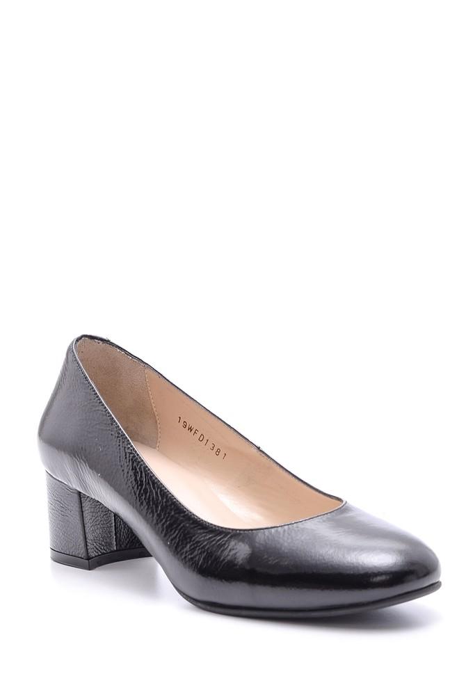 5638092775 Kadın Rugan Deri Topuklu Ayakkabı