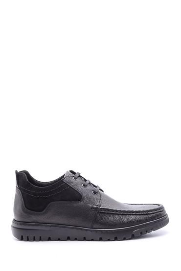 Siyah Erkek Deri Bağcıklı Ayakkabı 5638095844