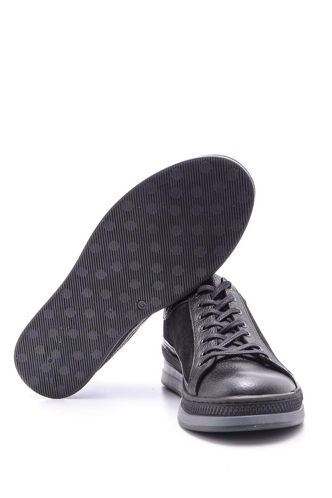 5638095769 Erkek Süet Detaylı Deri Spor Ayakkabı