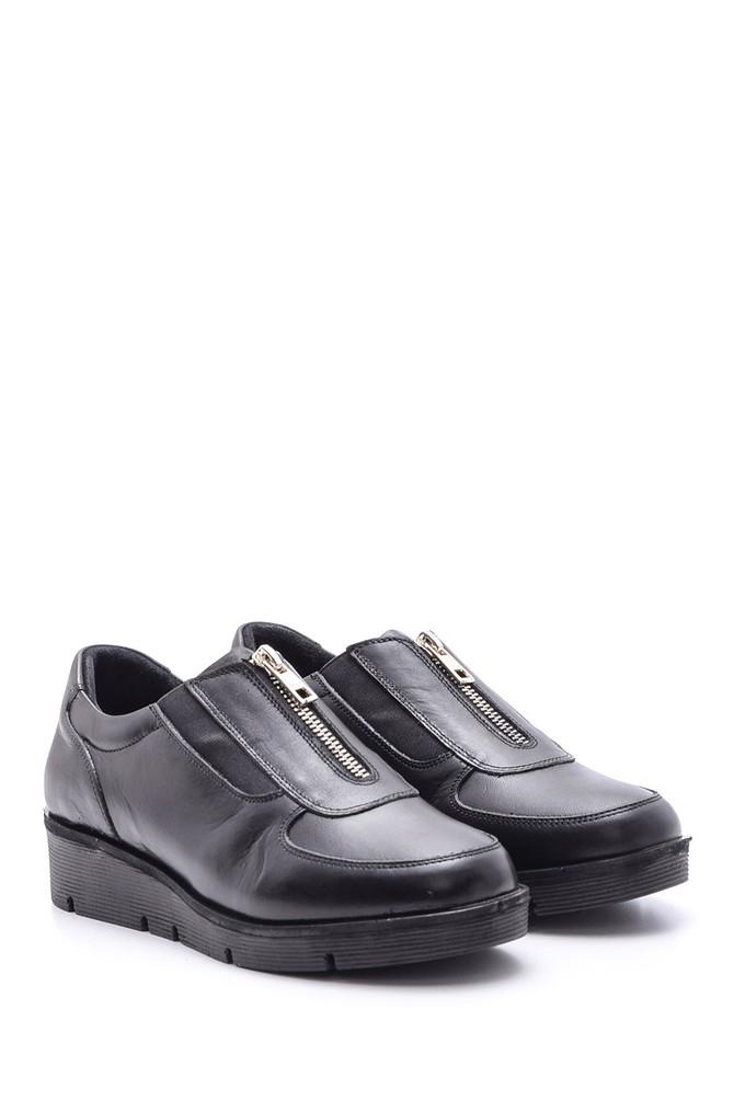 5638093970 Kadın Fermuar Detaylı Ayakkabı