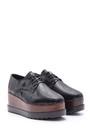 5638094175 Kadın Yılan Derisi Desenli Yüksek Tabanlı Ayakkabı