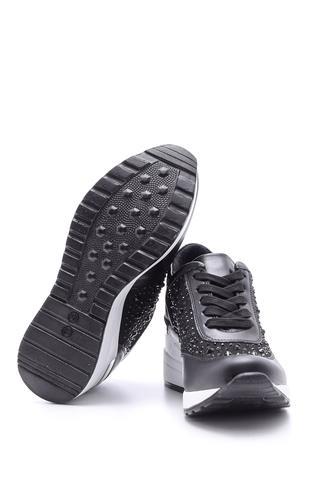Kadın Taş Detaylı Yüksek Tabanlı Spor Ayakkabı