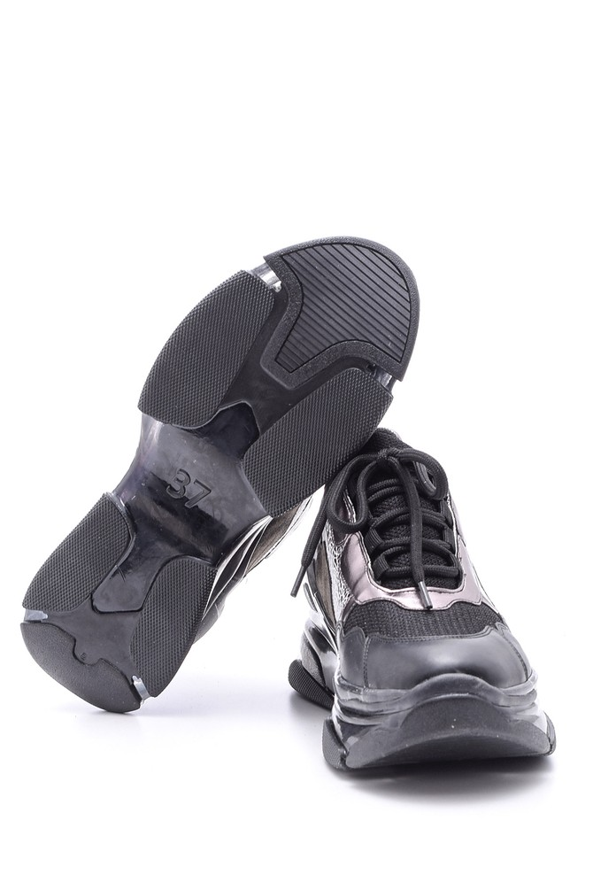 5638106894 Kadın Şeffaf Tabanlı Sneaker